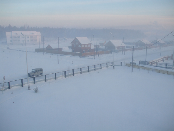 a snowy