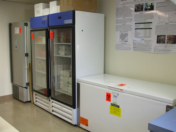 lab freezers and fridges