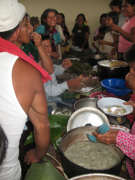 shuar cooking
